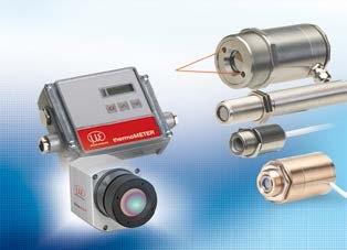 Sensors and measurement devices for non-contact temperature measurement