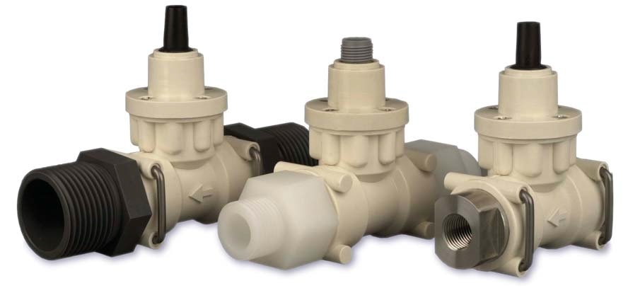 The Titan FT2 turbine flowmeter covers flow ranges from 0.01 to 160 LPM. With a PPS body and low inertia PVDF rotor, it operates up to 125C and 15 bar: the process fittings can be supplied in any material or specification: threads, hose barbs, flanges, fitted custom support brackets or tank connections.