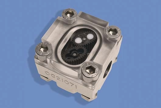 The basic oval gear flowmeter system is available with a transparent lid to allow visual observation of the rotating gears as an immediate flow indication. Bodies can be made from stainless steel, aluminum or PEEK. Electronic flow sensing uses Hall effect detection of the rotation of a ceramic magnet embedded in the rotor.