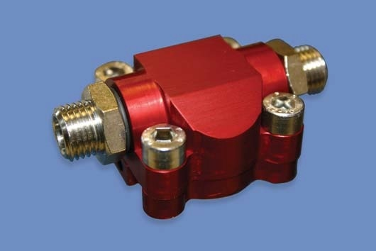 Similar units have been custom engineered to be small and lightweight, using aluminum housings, for use on portable medical equipment and robot arms, in the latter case to monitor hydraulic oil flows to press tools.