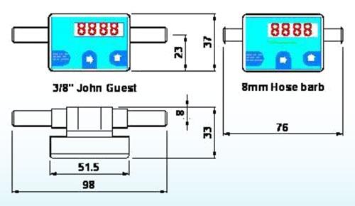 800-Series Turbine Flow Meter with Programmable Display
