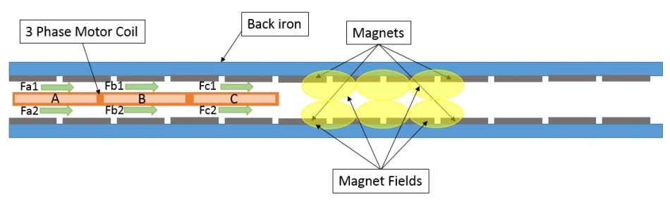 Linear Ironless Motor.