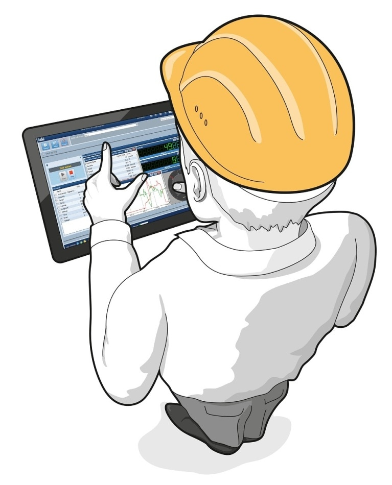 Smart worker illustration
