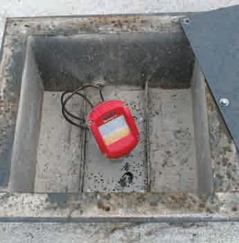 3DLevelScanner mounted on top of cement silo.