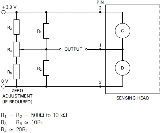 Pellistor measurements are commonly performed by using a Wheatstone bridge.