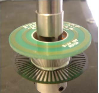 Electromagnetic coupling device mounted onto the shaft