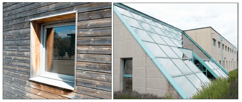 Test B (45 degrees): Terabee control window (left): Metallic coated window (right)