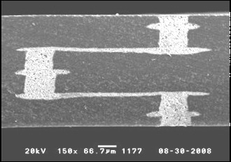 Cross section of anodically-bondable LTCC wafer.