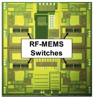 Transceiver quad-chip for intelligent antenna-arrays.