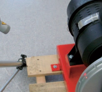 Example of a measurement using a laser vibrometer to characterize an electric motor.