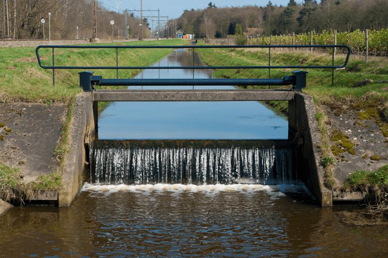 Weir waterfall
