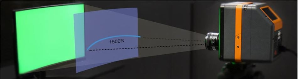 measuring curved displays