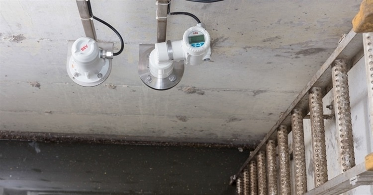 ABB laser level transmitters used in municipal wells to measure wastewater level.