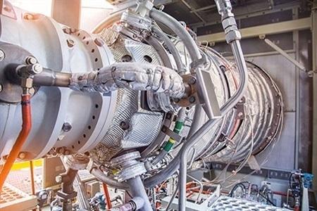 A gas turbine installation.