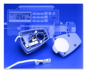 Custom strain gauge assemblies provide a cost-effective means of monitoring and controlling critical liquid flow for intravenous anesthesia, pain management therapy and blood transfusion equipment.