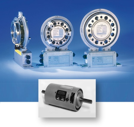 Different generations of torque transducers.