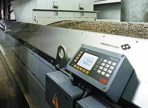 The robust PWSE single point load cell in a belt weigher for bulk weighing