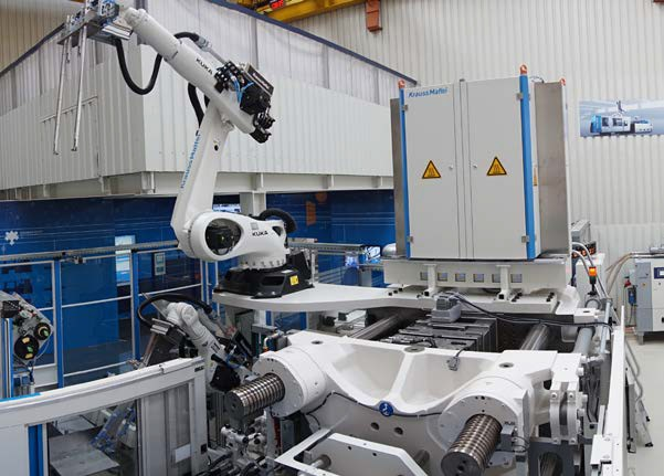 Automated manufacturing plan for the production of continuous fiber-reinforcedthermoplastics.