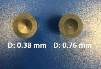 Dies with various diameters from Dynisco.