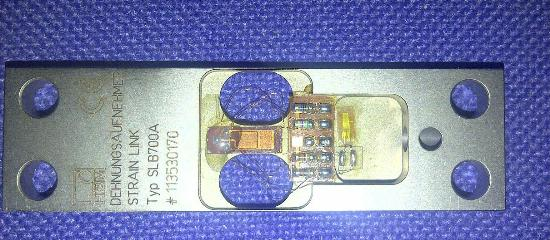 SLB spring element: The picture clearly shows the area of strain where the strain gauge has been installed.