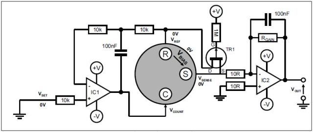Unbiased sensor circuit with split power rails