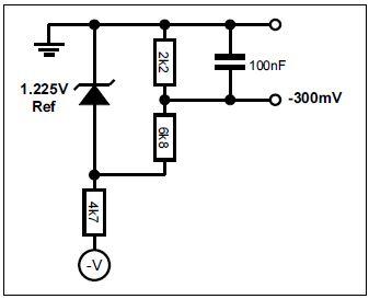 Example bias circuit for -300mV