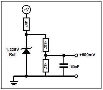 Example bias circuit for +600mV