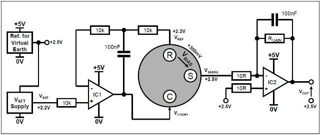 Biased sensor circuit with single power rail