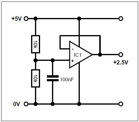 Example circuit to generate virtual ground