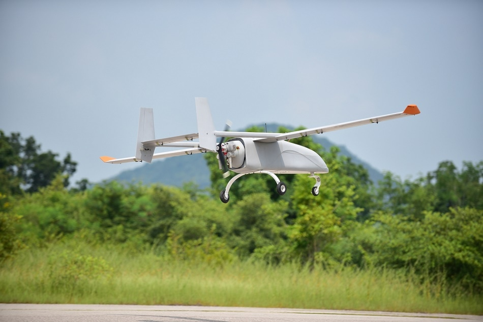 Mid- to large-sized drones have the required payload capacity to carry industrial cameras.