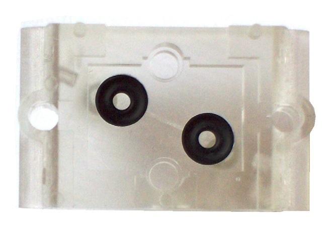Figure 3a. 3D printed laminar flow restrictor inside transparent adapter sample for the LME sensor.Image Credit: First Sensor