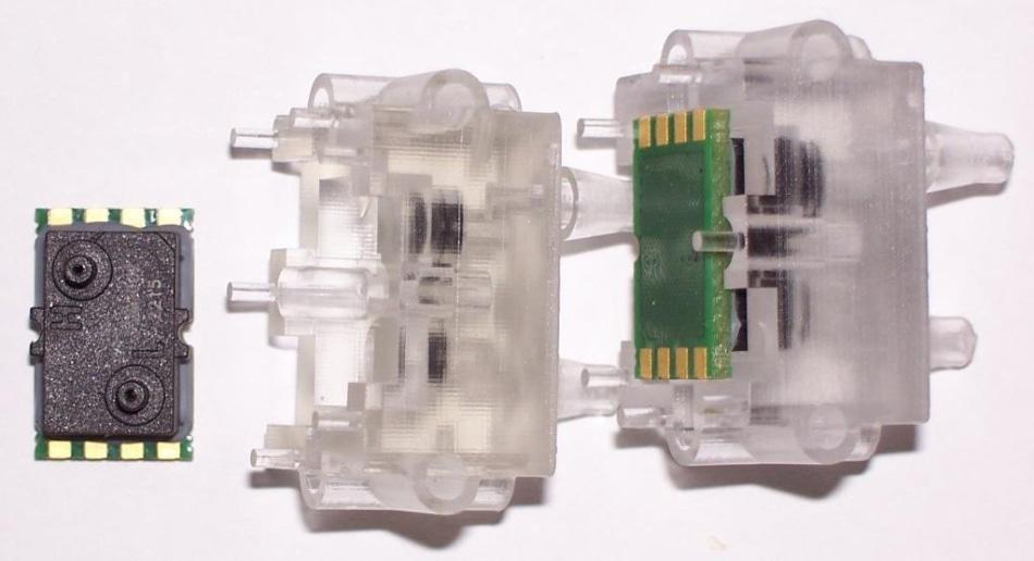 Figure 3b. LME sensor, adapter sample, and assembly.Image Credit: First Sensor