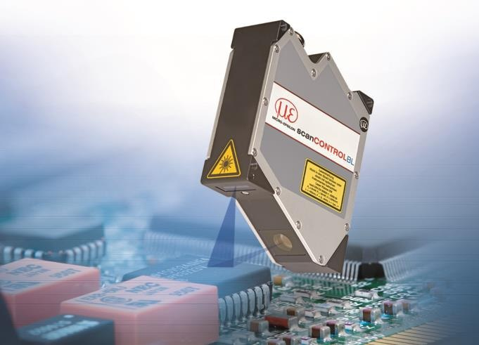 Inspection of smallest, electronic components using scanCONTROL 29xx-10/BL.