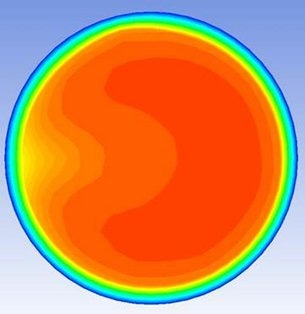 CFD-model of a disturbance (elbow).