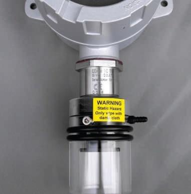 ATEX detector with splash guard.