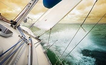 Guiding Racing Yachts with Ultrasonic Sensors