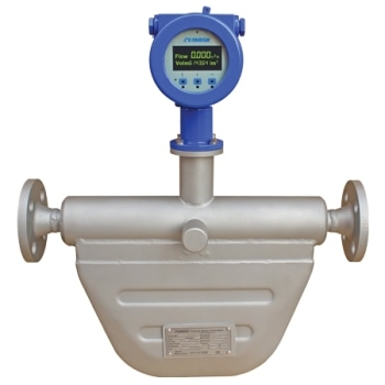 The Coriolis Mass Flow Meter for Measuring Mass Flow Rate and Temperature