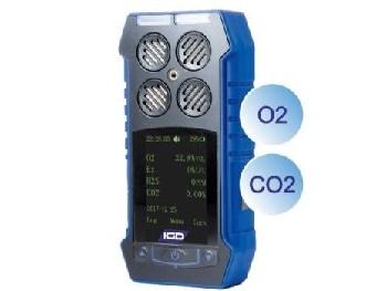Multi Gas O2 and CO2 Detector- Portable Multi Gas Detector