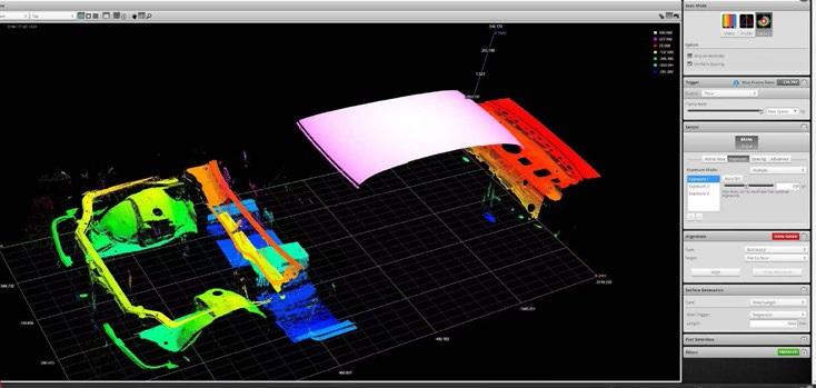 Single 2490 scan of a car body frame.