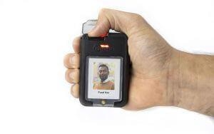 The iTAG X30 emergency call button.