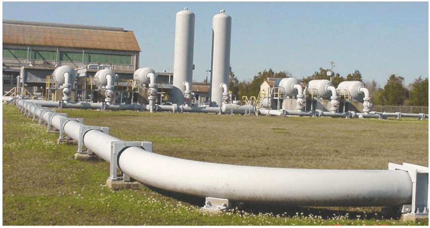 Typical booster pumping station.