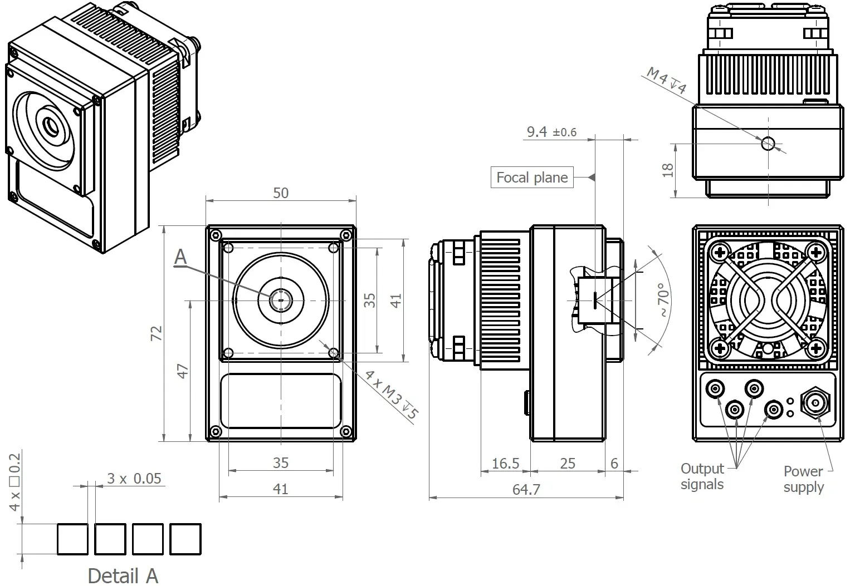 Mechanical layout, mm