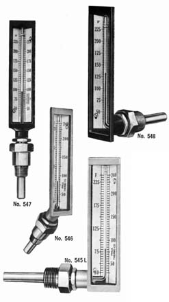 Separable Socket Connection Bronze Case Submarine Thermometers
