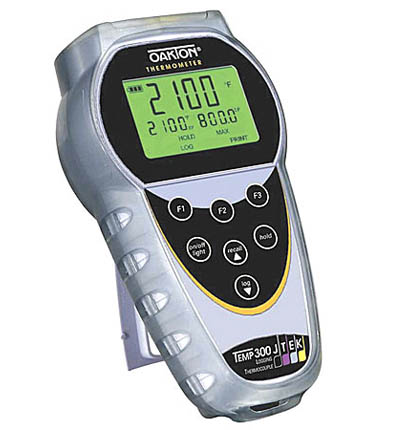 Temp-300 Dual-Input Thermocouple Datalogging Thermometer from Lab Safety Supply, Inc.