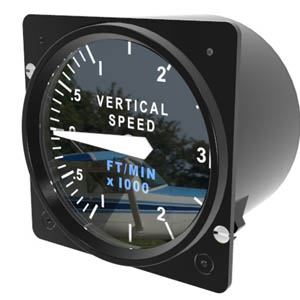 Cessna Caravan Vertical Speed Indicator from Simkits
