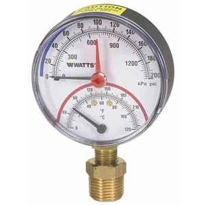 DPTG-1 Combination Pressure and Temperature Gauges from Watts Water Technologies