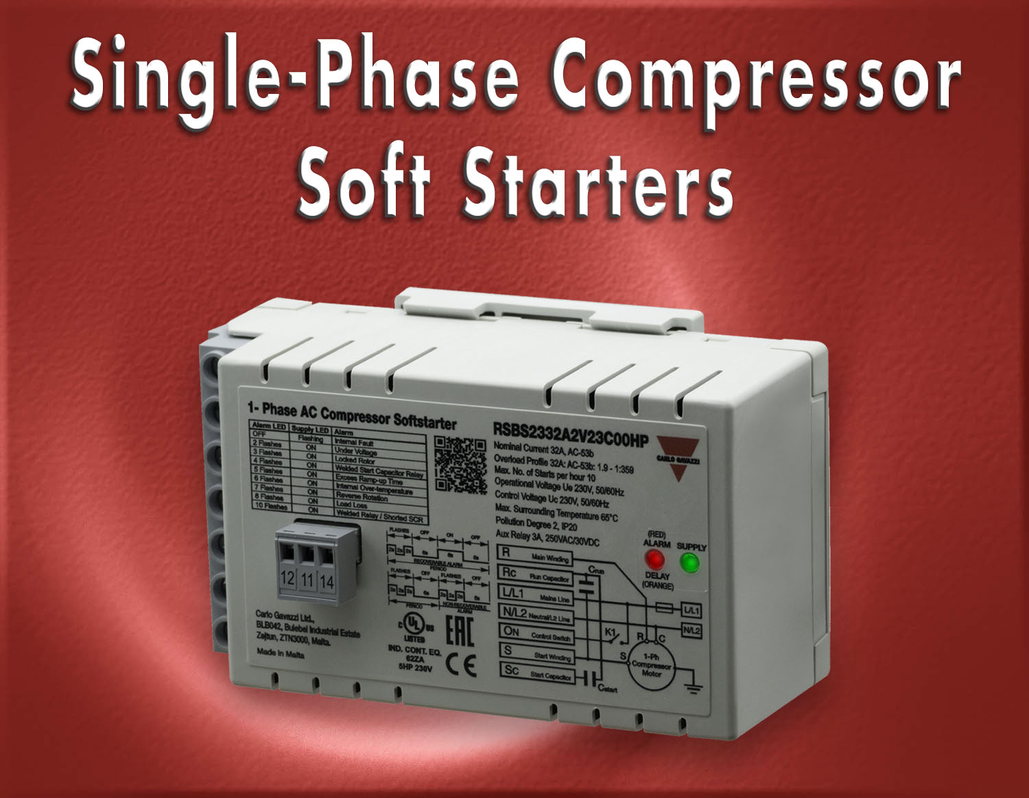 RSBS Series Single-Phase Compressor Soft Starters