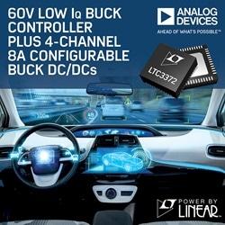 60 V Low IQ Buck Controller Plus 4-Channel 8 A Configurable Buck DC/DCs
