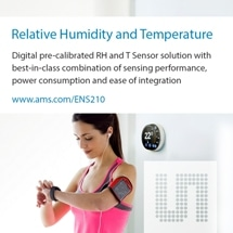 ams Launches Highly Accurate Relative Humidity and Temperature Sensor IC
