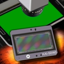 50 Megapixel CCD Image Sensor from ON Semiconductor Targets Inspection of Smartphone Displays